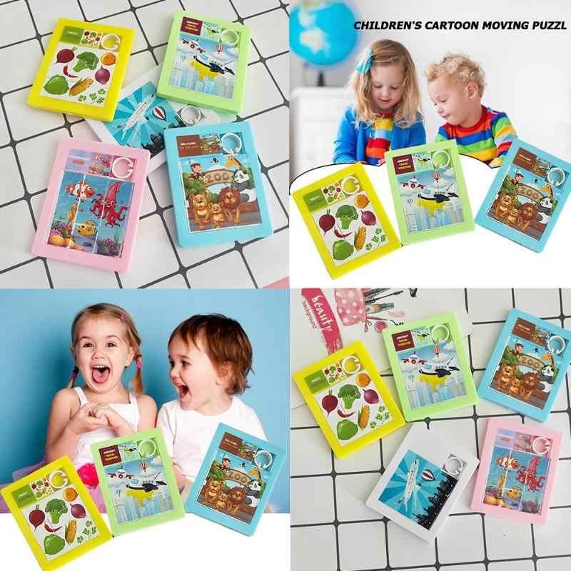 On iki ekose klasik slayt bulmaca oyunu dijital ve hayvanlar desen eğitici yapboz bulmacalar oyuncaklar çocuk hediye için HUARONG Roa