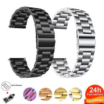18mm 22mm 20mm 24mm zespół do SAMSUNG Galaxy zegarek 42 46mm galaxy zegarek 3 45mm 41mm ze stali nierdzewnej do Amazfit Bip GTR pasy tanie i dobre opinie CAOWTAN CN (pochodzenie) 17cm Paski do zegarków STAINLESS STEEL Nowość bez znaczków SSB0003 Buckle For Samsung Gear S3