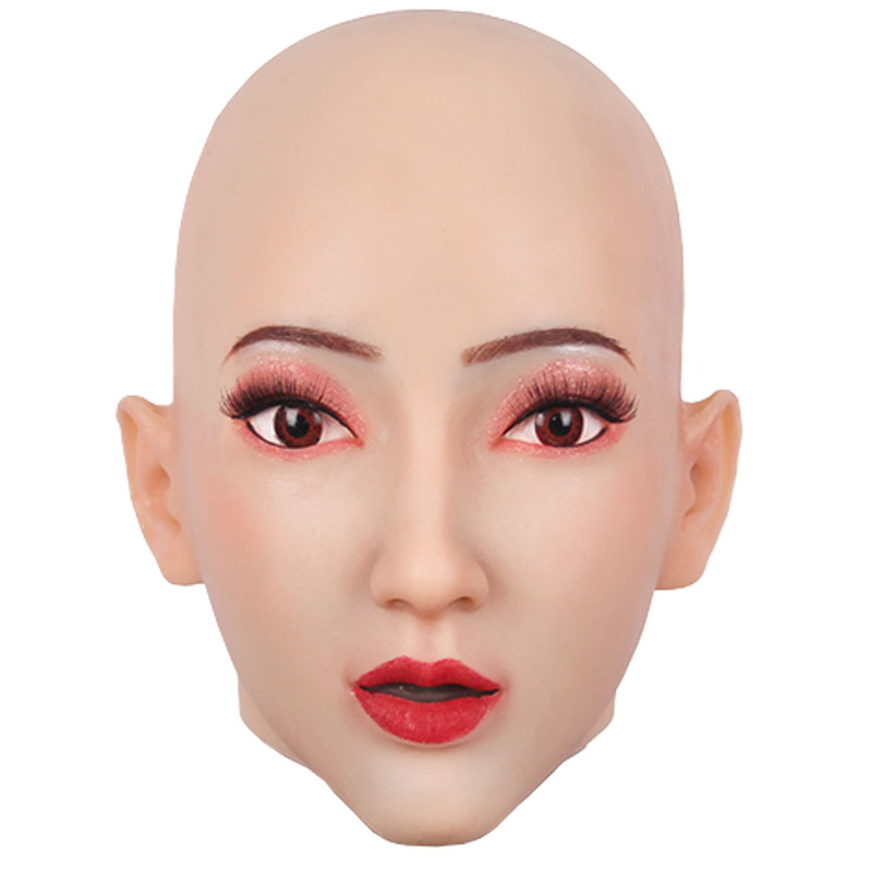 Realistic Silicone Halloween Mask Face Of Human Skin For Fool's Day Fancy Ball Masquerade Crossdresser Cosplay Spoof Tricky Prop