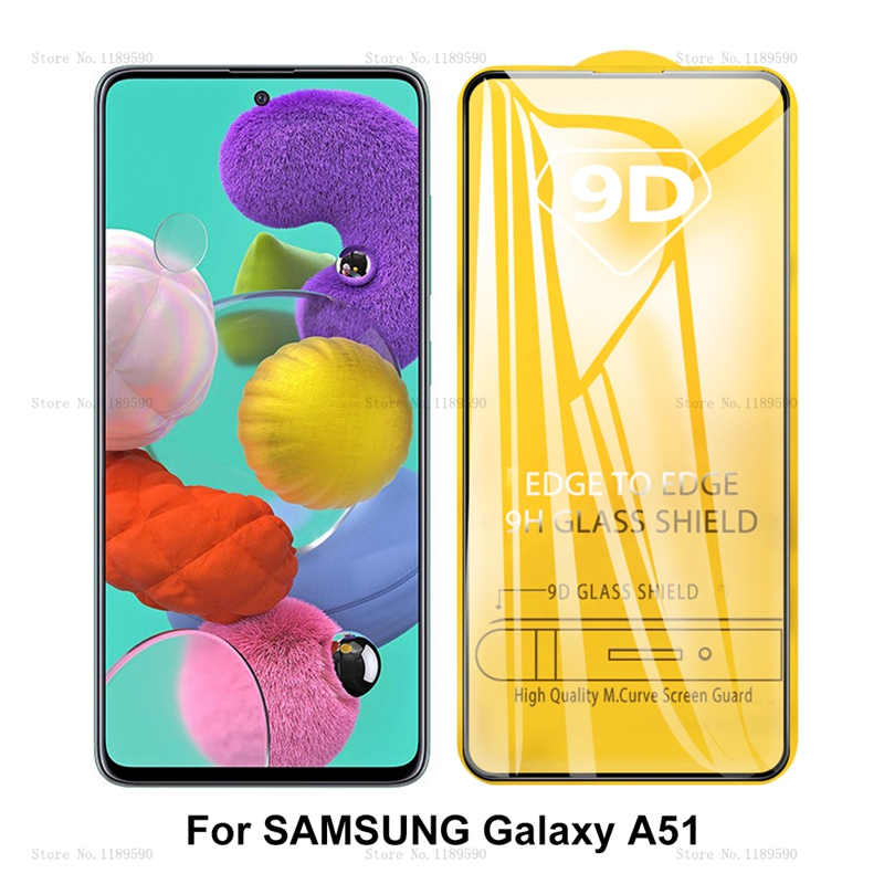 9D Full Glue Cover Tempered Glass For Samsung Galaxy A51 A71 Screen Protector For Samsung Galaxy A 51 71 A515 Protective Glass
