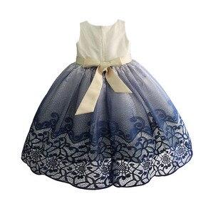 Image 2 - فستان حفلات رائع للبنات مطرز بالدانتيل فساتين زفاف للأطفال فستان سهرة رسمي للأطفال ملابس للبنات 3 10T