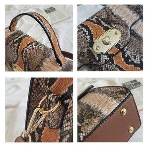 Image 4 - FUNMARDI VINTAGE Serpentineไหล่กระเป๋าล็อคFLAPกระเป๋าความคมชัดสีผู้หญิงกระเป๋างูRetro Crossbodyกระเป๋าWLHB2031