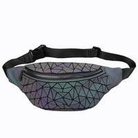 2019 Summer Women Waist Bags Fashion Noctilucence Chest bags Ladies Turn colors Plaid Messenger bags c215