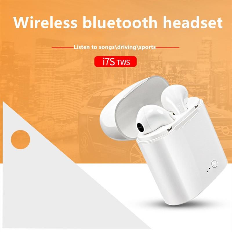 Hot I7s TWS Wireless Bluetooth Earphone Charging Stereo Earbud Headset Headphones Mic For All Smart Phone