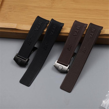 Watchband Sport-Tape Silicone-Rubber Heue Deployment Clasp High-Quality for Tag Waterproof
