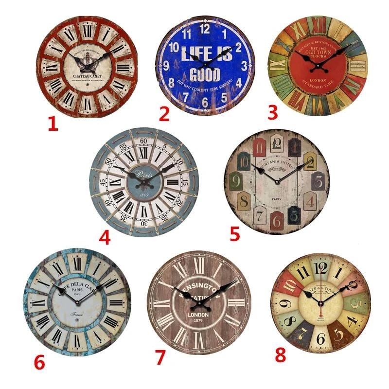 Wooden Wall Clocks Uk Mute Hanging Clock Antique Home Decor Retro Retro Retro Vintage Decoration Bar Wall Clocks Aliexpress