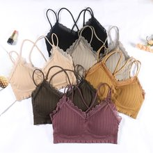 2020 New Women Sexy Lace Tube Top Bras Tops Wrap Strapless Top Bra Bandeau Underwear Seamless Crop Top Lingerie For Ladies B0173(China)