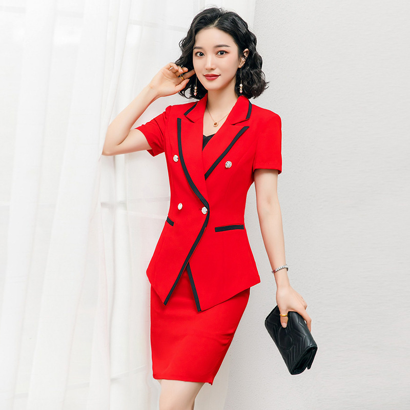 Professional Skirt Suit Feminine Spring And Summer 2020 New High Quality Office Ladies Jacket Blazer Slim Skirt Two-piece