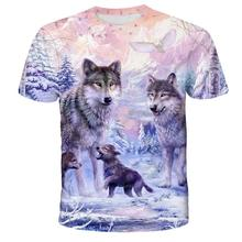 Lovers Wolf Printed T shirts Men 3d T-shirts Drop Ship Top Tee Short Sleeve Camiseta Round Neck Tshirt Fashion Casual Brand