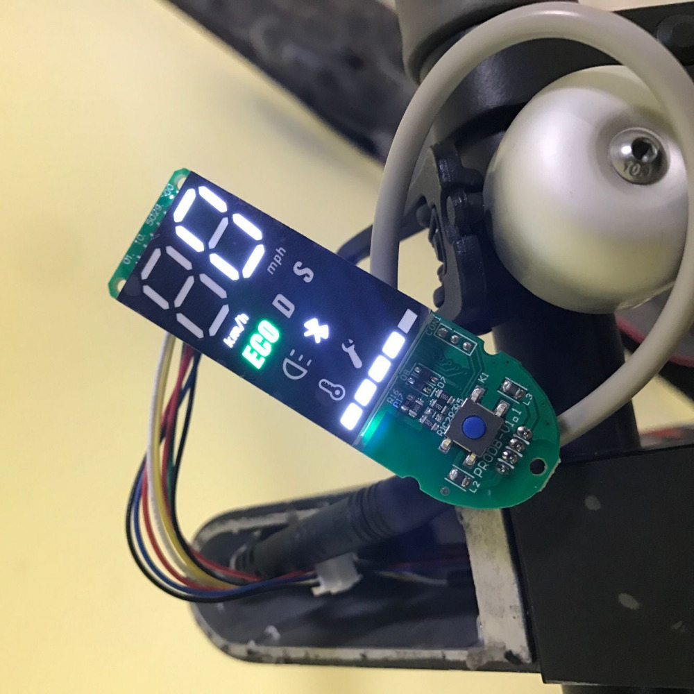 Image 2 - Dashboard for Xiaomi M365 Pro Scooter Circuit Board with Screen Cover for Xiaomi M365 Scooter Dashboard Speed Power Show Parts-in Scooter Parts & Accessories from Sports & Entertainment