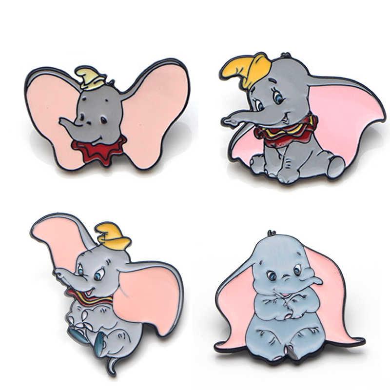 V133 NARUTO y elefante lindos alfileres y broches de Metal esmalte moda solapa Pin mochila bolsas insignia colección regalos