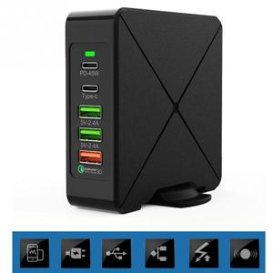 Image 3 - 노트북 75W PD 로터리 스탠드 여행 홈 타입 C 휴대 전화 안전 USB 빠른 충전기 멀티 포트 전원 어댑터 벽 플러그