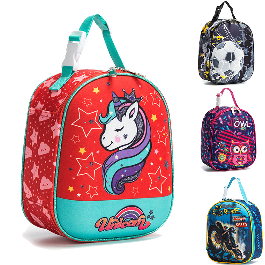 Cartoon Printing Kids Insulated Lunch Bags Unicorn Children Thermo Food Keep Bag Fruit Milk Thermal School Lunch Box For Kids