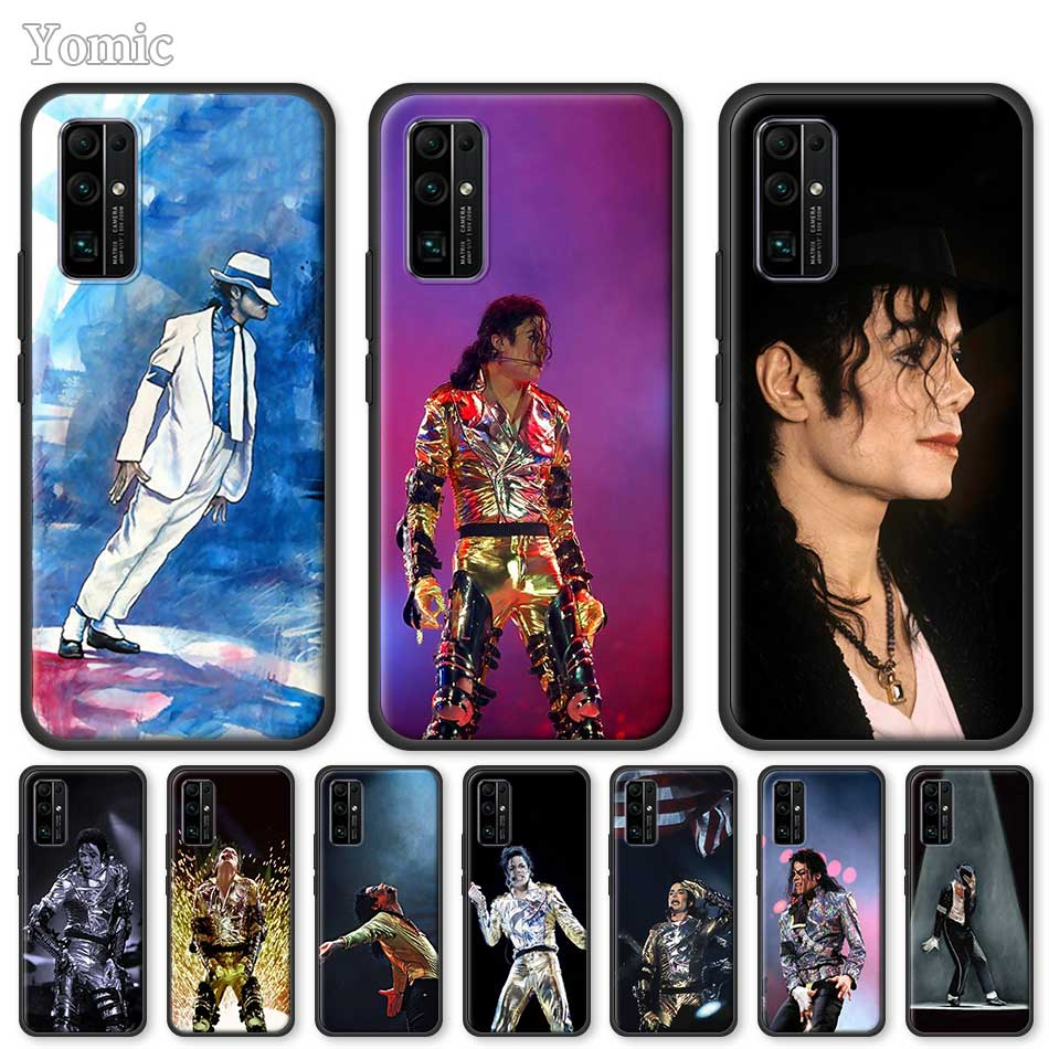 Yomic Soft Case For Huawei Honor 20 Pro 9C 9S 10X Max 8X 30 Play 9A Y6 Y9 Prime 2019 Tpu Black Cover Michael Jackson Dance Music