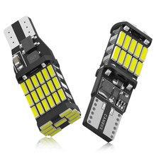 2X Canbus без ошибки T15 W16W светодиодный лампы 4014 45SMD автомобиля резервного копирования стоп резервный светильник фонарь стоп-сигнала сигнальные...