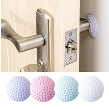 2pcs Home Wall Stickers Thickening Mute Fenders Rubber Door Handle Lock Protective Pad Kids Room Decoration