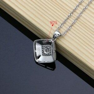 Image 5 - Farba gumowa srebro 925 biżuteria biała cyrkonia sześcienna zestawy biżuterii dla kobiet Party kolczyki/wisiorek/pierścionki/bransoletka/naszyjnik zestaw