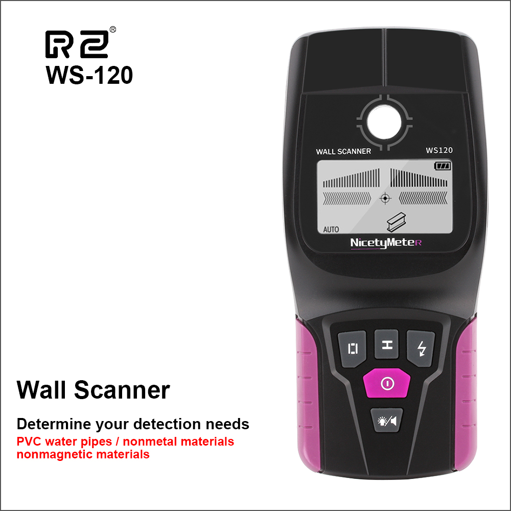 RZ Wall Scanner Digital Handheld Professional Multifunction Wall Detector Live Wires Cable PVC Water Pipe Metal Finder Scanner