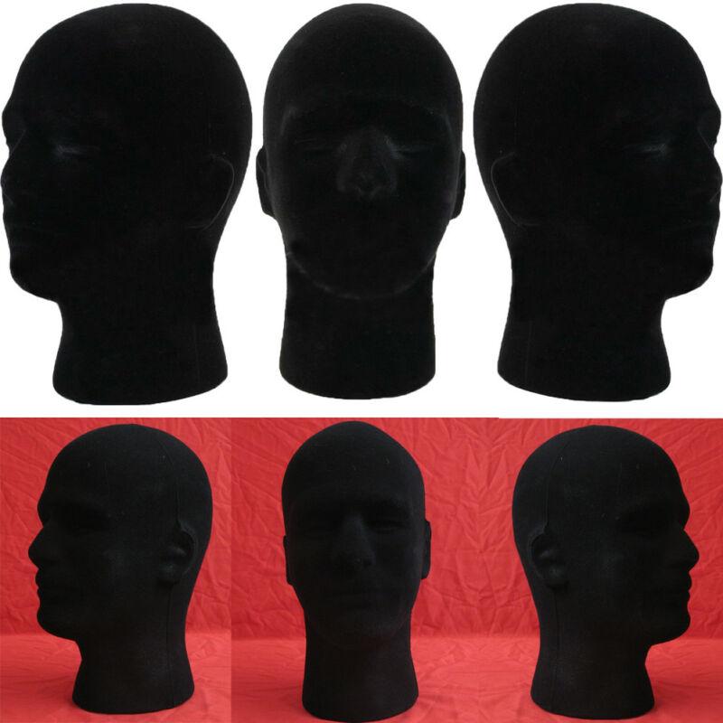 Новый мужской манекен, модель головы из пенопласта, парик, очки, шляпа, демонстрационная подставка