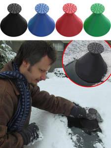 Car-Ice-Scraper-Shaped Cone-Tool Windshield Funnel-Snow-Remover Scraping Car Magic Round