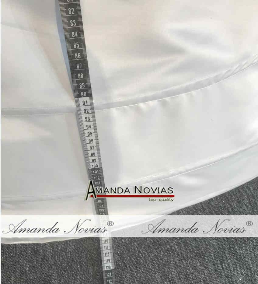 8 колец Нижняя юбка. 115 см длинная большая Нижняя юбка для бального платья свадебное платье