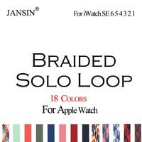 Correa trenzada para Apple Watch, banda de reloj elástica de 42mm, 38mm, 44mm y 40mm para iWatch SE Series 6, 5, 4 y 3, correa de tela