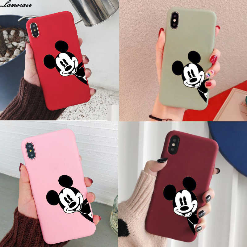 Cartoon Mouse Case Voor Samsung Galaxy A50 A30 A40 A10 A20 A70 M10 M20 M30 A7 A8 J6 J8 2018 a750 J4 Plus S8 S9 Rand S10