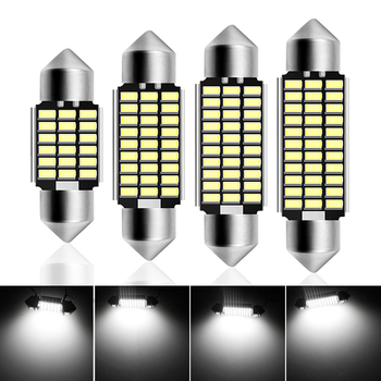 1pcs Car C5w 3014SMD Bright White LED License Plate Lights for BMW E36 E39 E46 E90 E91 E92 E53 E60 E65 E71 Car Gadget Auto Goods image
