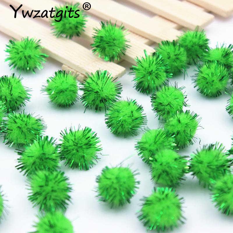 Ywzatgits 144 ชิ้น/เซ็ต Fluffy Pom Pom Pompoms ลูกบอลทำด้วยมือเด็กของเล่นตกแต่งแต่งงาน DIY เย็บหัตถกรรม YJ0702