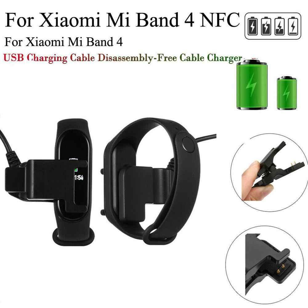 1PC สำหรับ Mi Band 3 4 Fitness Tracker สร้อยข้อมือสมาร์ท USB ชาร์จสายเคเบิลอะแดปเตอร์สำหรับ Xiaomi Mi Band 3/4 สายไฟเปลี่ยน