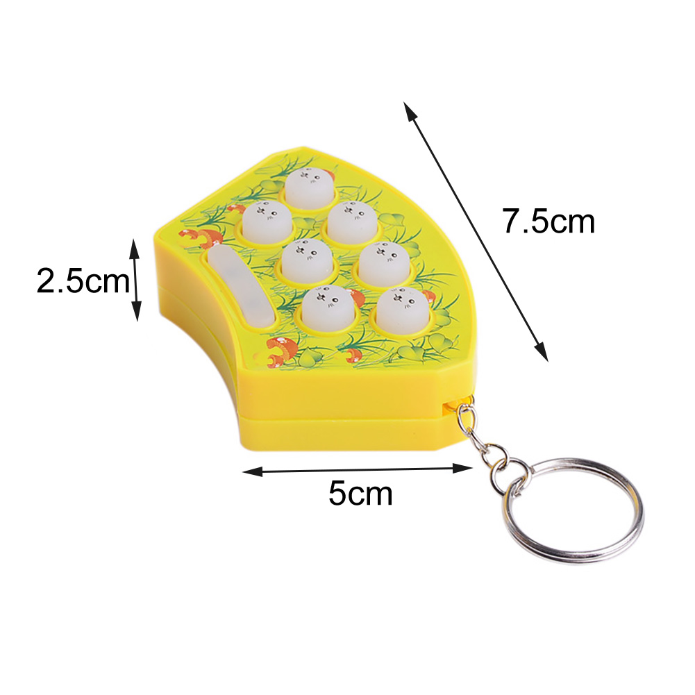 None Random-contraband LongleiWG inconceivable Whack a mole Hit Hamster Game Hand Fidget Toy Kid Educational Toy Key Chain