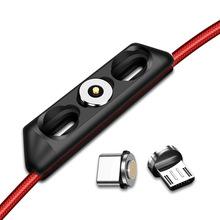 2021 kabel magnetyczny obudowa wtyczki przenośny pojemnik do przechowywania magnetyczna ładowarka wtyczki Micro rodzaj USB C Adapter złącza schowek Case tanie tanio NONE CN (pochodzenie) dropshipping wholesale magnetic USB plug storage device 12 *45* 11 5mm