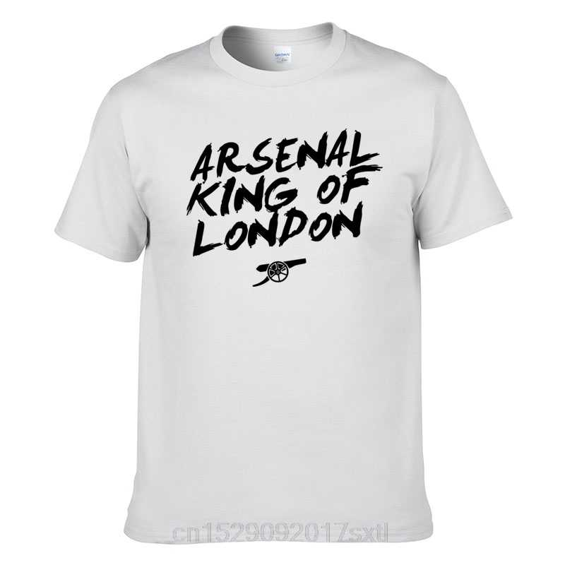 Arsenal T-Shirt King of London TShirt Football Fans New Men's Casual Summer Cotton TShirts Hip Hop Streetwear Harajuku Shirts
