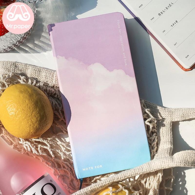 Mr.Paper 8 Designs Slim Brief Flower Fruit Sky Artsy Beautiful Weekly Pocket Monthly Schedule Planner Creative Pocket Notebook