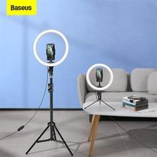 Baseus Dimmerabile LED Selfie Anello di Luce con il Treppiedi USB Selfie Anello Lampada Photography Luce di Riempimento per Youtube Tiktok Supporto Del Telefono