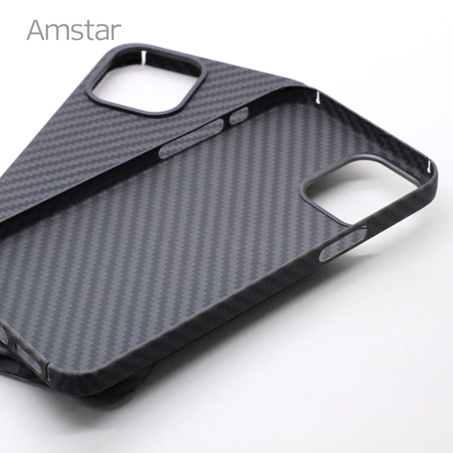 Amstar Real Carbon Fiber Phone Case for iPhone 12 Pro Max Ultra Thin Anti-fall Carbon Fiber Hard Cover Cases for iPhone 12 Mini 6