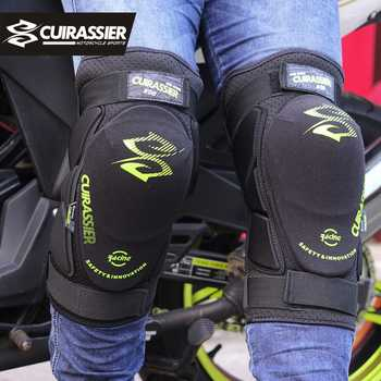 Cuirassier K08 Motorcycle Knee Pads Motocross MX Knee Protector Shin Guards Protective Gears Skating Roller Racing Riding Brace