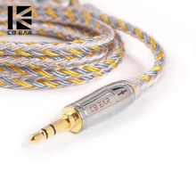 KBEAR 16 Core Verbesserte Silber Überzogene Kupfer Kabel 2.5/3.5/4,4 MM Mit MMCX/2pin/QDC TFZ Für KZ ZS10 ZSN Pro ZSX BLON BL-03 V90