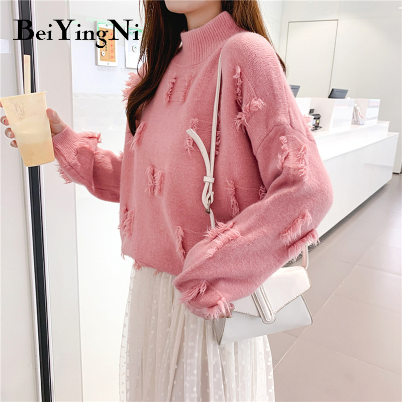 Beiyingni Autumn Sweater Pullovers Women Winter Tops Female Turtleneck Cashmere Knitted