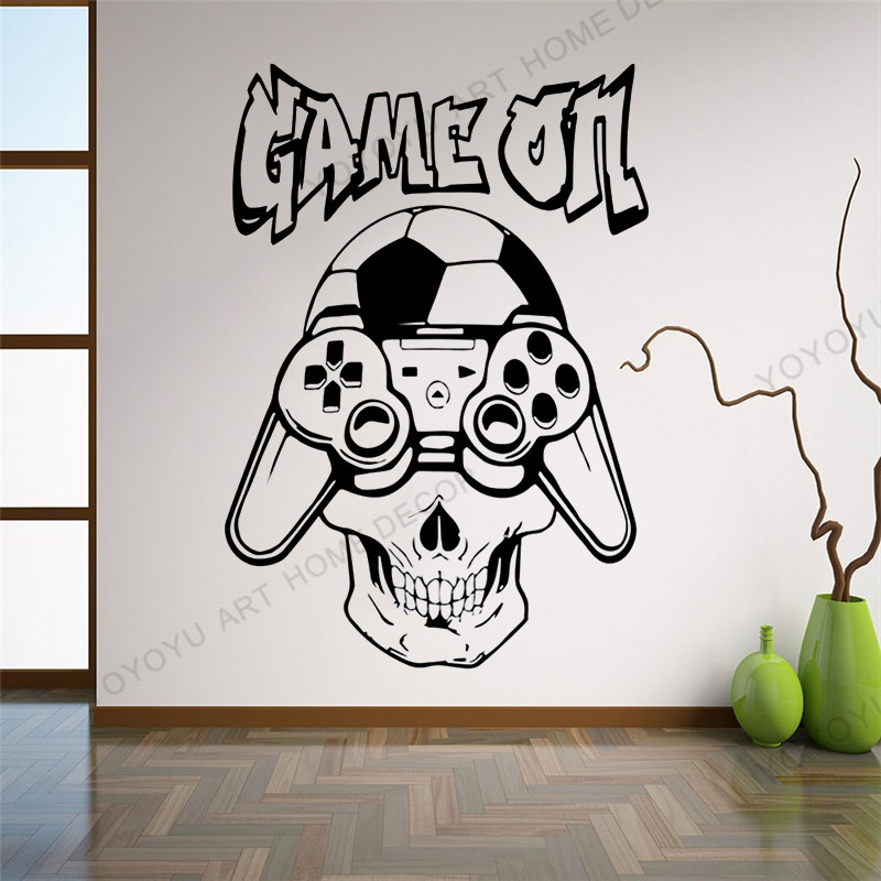 Dog 3D virtual glasses Gamer wallpaper Game wall sticker video game wall decol For the game zone club vinyl Wall murals wx256 image