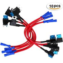 10 Pcs Small Size auto Car Fuse Holder ACS Add-a-circuit TAP Adapter with 105A Micro Mini Standard ATM Blade
