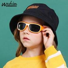 Детские солнцезащитные очки для девочек и мальчиков, поляризационные гибкие уличные солнцезащитные очки, мягкая оправа UV400, чехол для детей 3-8 лет