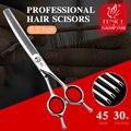 Высококачественные ножницы для волос Fenice JP440c, 6,5 дюйма, изогнутые тоньше, ножницы для парикмахерской, ножницы для укладки салона красоты