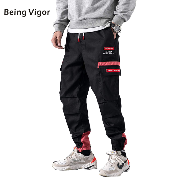 NEW Men Tactical Pants Cargo Patchwork 2019 Hip Hop Joggers Harajuku Streetwear Skateboard Sweat Pants Harem Trousers Mens M-5XL