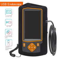 Video Industrial HD 1080P Snake Camera USB Endoscope 4.3inch IPS Screen Dual Lens Car Repairing With 6 LED Lights Home Drain