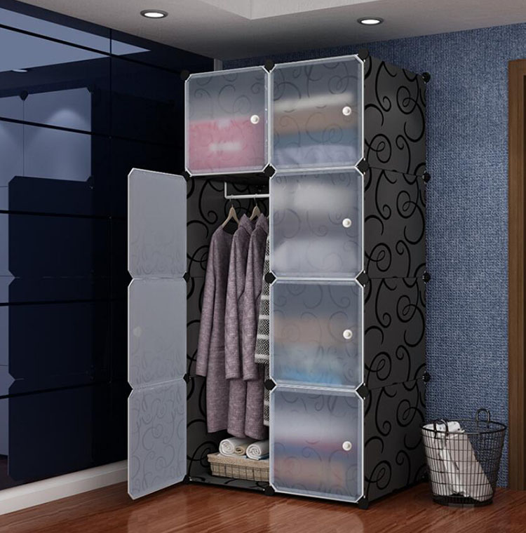 Foldable шкаф для одежды Wardrobe Plastic Combination Cube Storage Closet Cabinets Clothes Organizer Bedroom Furniture