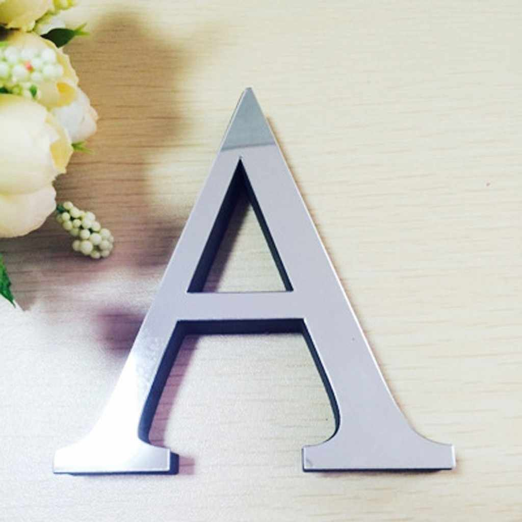 30cm A-Z Letters New Acrylic Mirror 3D DIY wall stickers stickers English letters home decoration creative personality Special D