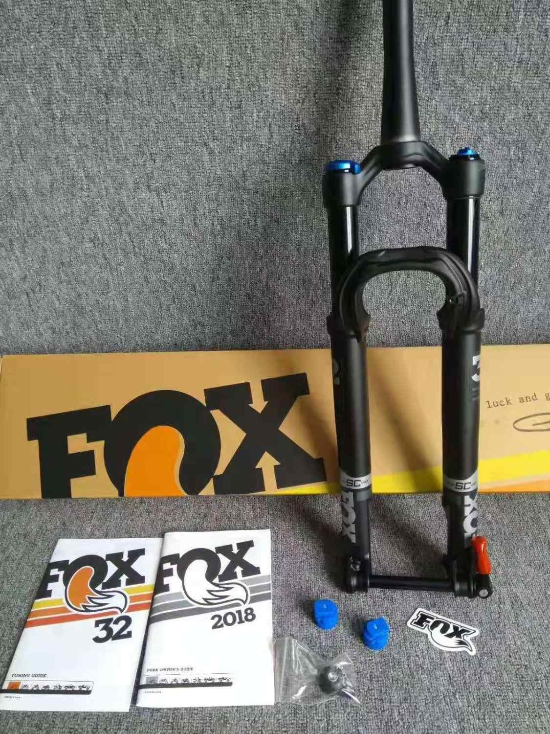 "2018 27.5"" 29 Fox Fork Performance Series 32 FIT 4 SC CAST 100mm travel MTB MOUNTAIN BIKE FORK 15MM*100MM through axle black"