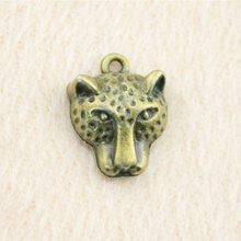 Jewelery Crafts Accessories Gifts For Men Antique Bronze Leopard Head Charms 20 Piece/lot 18x15mm AK320(China)