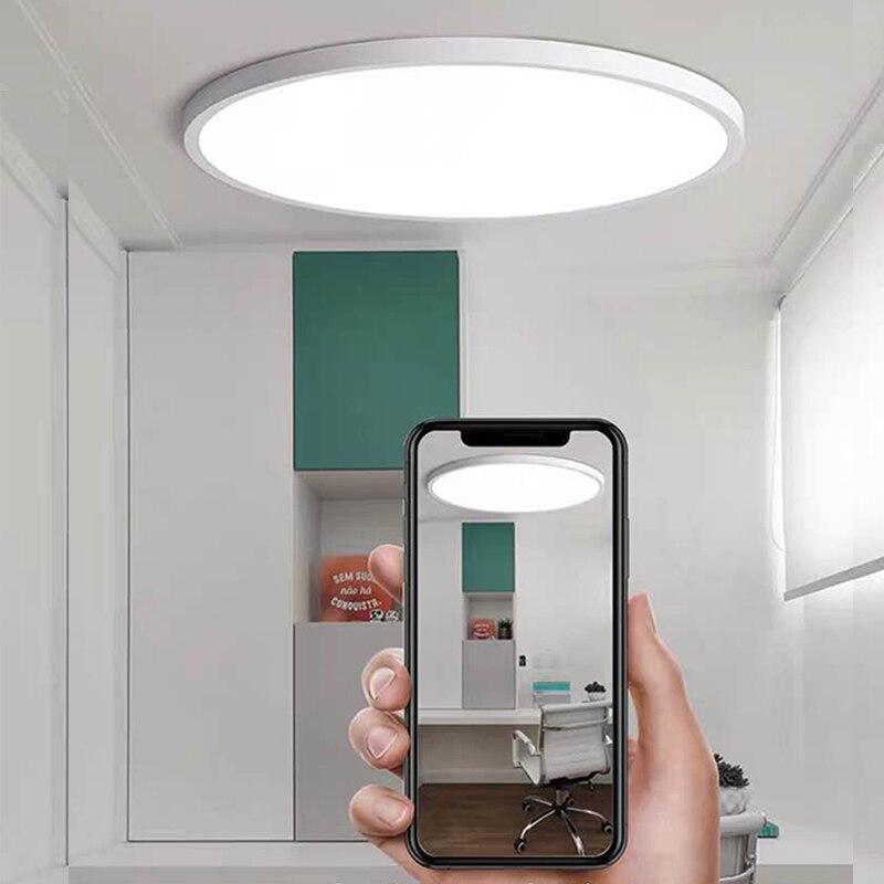 Ultrathin LED Ceiling Lights 6W-48W AC 85-265V Modern LED Panel Light For Living Room Surface Mounted Led Ceiling Down Light